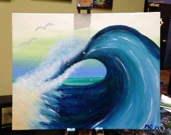 Beach Wave Painting