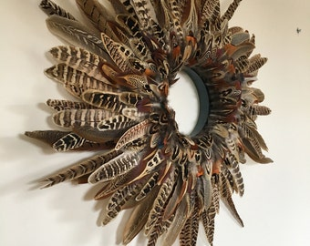 Small Pheasant Feather Wreath