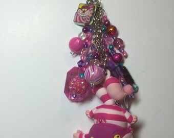 Cheshire Cat purse/backpack/planner charm