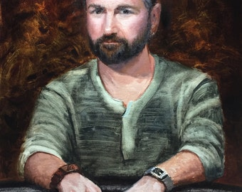 Daniel Negreanu - Poker Limited Edition Signed and Numbered Giclee by Grey 30x40
