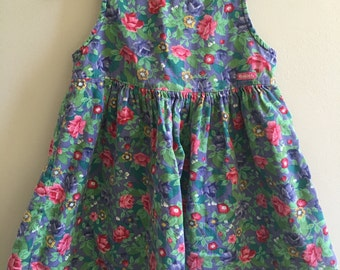Vintage Osh Kosh B'gosh Girl's size 6 Flower Dress