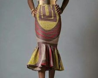 Body Fitting African Print Dress