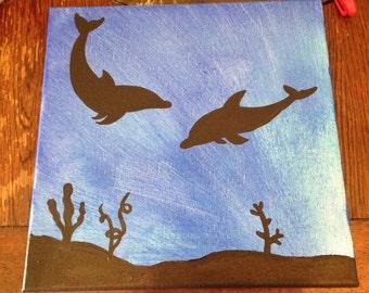 Dolphin Shadow Art