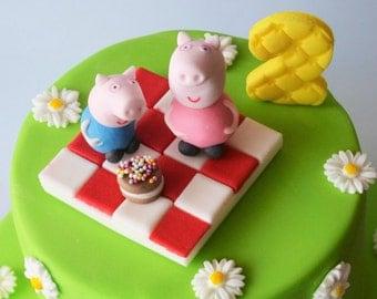 personalised edible cake decoration peppa pig cake toppers edible personalised birthday decoration