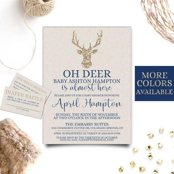 oh deer baby shower invitation deer baby shower invitation deer