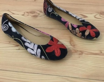 Colorful ballerina shoes unique handmade Gr. 40 new!