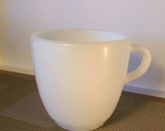 Vintage Corning Glassblower Milk Glass White Mug 1952
