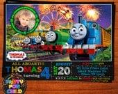 Thomas the Train Invitation, Thomas Birthday Party, Thomas Invite, Thomas the Train , Thomas the Train Birthday Invitation, Birthday Invite