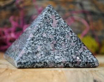 Ruby in Black Tourmaline Crystal Pyramid - 1198.704