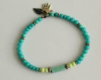 Bracelet turqoise elastic