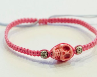 Skull String Adjustable Bracelet