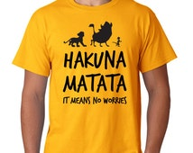 Hakuna Matata T-Shirt, Family TShirt,  Hakuna Matata TShirt, Family T-Shirt, Funny T-shirt. Lion King T-Shirt. Also available in a Onesie!