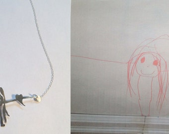 behind the couch drawing necklace