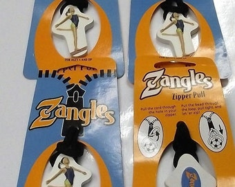 Zangles ZG-ZP-Gymnastic Zipper Pulls 4pcs Great For Luggage Or Backpacks