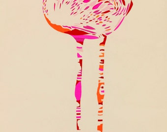 Garland Flamingos limited edition signed giclee art print