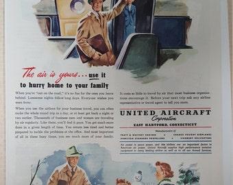 1949 United Aircraft Corporation print ad