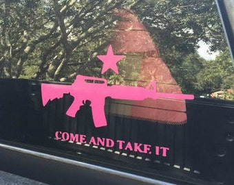 Come and Take it Decal / Guns / 2nd Amendment / Car Decal / Truck Decal / AR-15