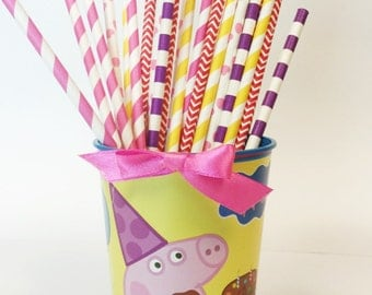 Peppa Pig Party Straws