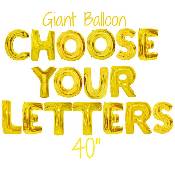 Giant letter balloon 40 giant gold balloon by for Giant letter balloons