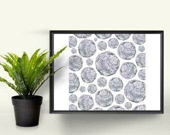 Geometric Diamond Heaven - 8x8 Graphic Print. A Perfect Gift for the Home. Photographic Art Design.
