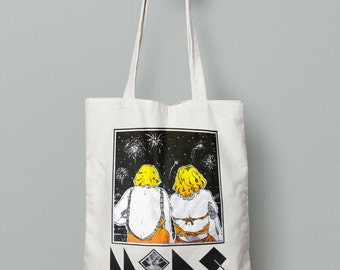 "MKReal Screen Printed Tote bag, ""Sister"""