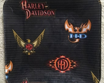 "Harley Davidson 10.5"" glass plate"