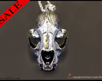 Cat Skull Necklace,Cat Skull Pendant,Cat Skull Jewelry,Animal skull Necklace,Animal Skull Jewelry