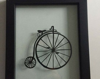 Old Fashioned Bike Cutout- Penny Farthing