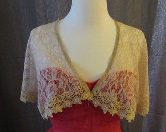 Lace Capelet with Lace Trim