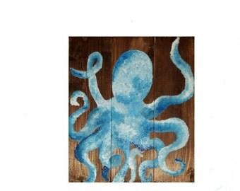 Octopus ocean seaside beach sign