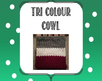 Tri-Colour Cowl Pattern