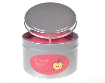 8 oz Oh My Gosh Macintosh Homemade Apple Scented Soy Wax Tin Candle