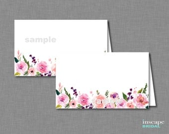 Food Tent Cards Printable, Bridal Shower Place Cards, Floral PlaceCards, Bridal Shower Food Tent Cards, Food Labels, Bridal Shower Decor