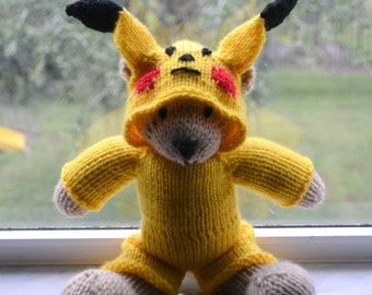 Bruce The Bear in a Pokemon Costume