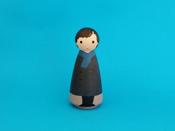 Sherlock Holmes Folk Art Doll | Sherlock Gift Guide