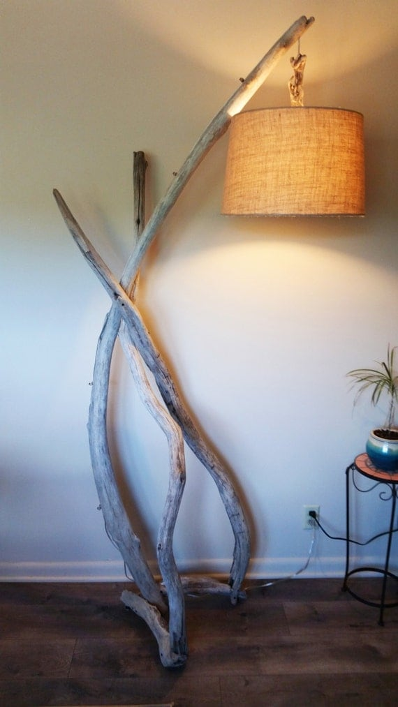 items similar to the arch driftwood floor lamp rustic With rustic arch floor lamp