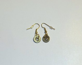 Bullet Jewelry- 9mm Bullet Dangle Earrings
