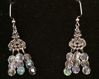 Crystal Auroraborealis  Earrings