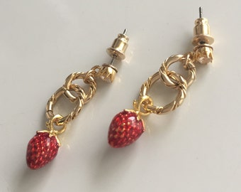 * Strawberry earrings