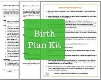 Birth Plan Kit