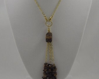 Tiger Eye Charm Necklace