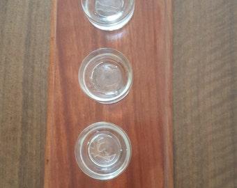 Bubinga wood candle holder