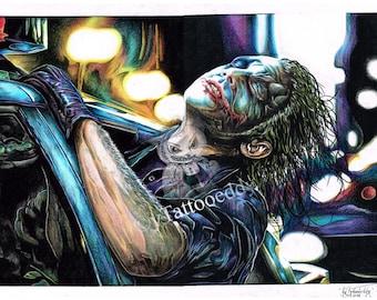Joker The Dark Night - Fine Art Print - A4/A3