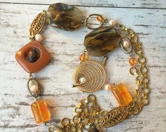 Gemstone Golden Necklace