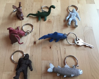 Cryptozoology Keychains! The kraken/Kracken/Pirates
