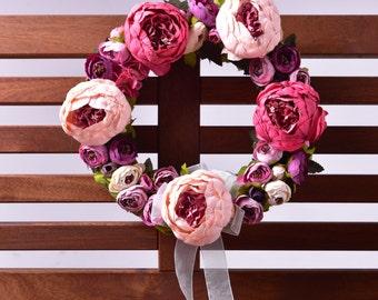 Dancing Roses Door Wreath