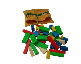 Wooden toy - colorful cubes