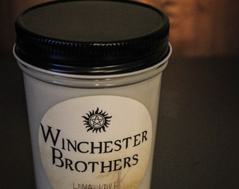 Winchester Brothers 100% Soy Candle Supernatural Inspired