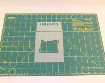 Oregon Stencil w/ State Name - Reusable Mylar Stencil Template