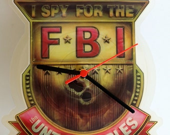 "The Untouchables - I Spy For The FBI. 7"" Shaped Record Picture Disc Clock"